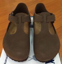 Birkenstock Paris 065003 Euro size 40 L9~9.5 Narrow Mocha Nubuk Leather Shoes