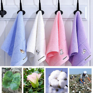 Sheet   Towel Soft  Bath Towel   Color  Bath Solid  Cotton  Towels   Hand  Home