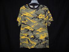 Gadzooks Stripes Men's Crew Neck Green Yellow Camouflage T-Shirt Size XL NWT HOT