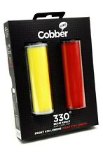 Knog BIG Cobber LED USB Rechargeable Bicycle Lights Front Rear TWIN PACK
