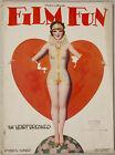 Vintage March 1928 Film Fun Magazine Heartbreaker Flapper Enoch Bolles Cover Art