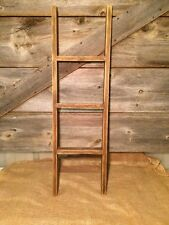 PRIMITIVE BARN WOOD 3 FT. STRAIGHT  LADDER/Country/Rustic/Distressed/Old/Worn