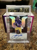 🔥JOHN ROSS RARE BLACK LABEL LEAF ROOKIE ON CARD AUTO /5 BECKETT PRISTINE 10🔥