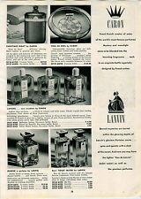1947 PAPER AD Caron Voeu De Noel Perfume Lanvin Rumeur Weil Of Paris Cobra