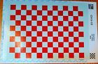 """Microscale Decal  CH-5-1/2  All Scale Checkers 1/2"""" Wide Red Decal Sheet"""