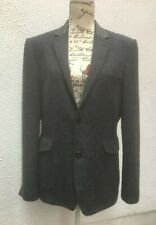 """Mans Jacket Blue Blazer 40 """" Wool M Button Pockets Collar Sports Coat Country Md"""