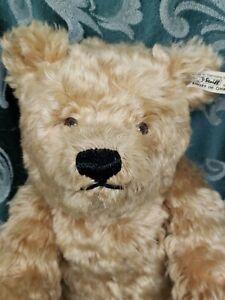 """Steiff Otto Bear LE #1738/5000 406744 Made 1992 15"""" tall USA Curly Gold Mohair"""
