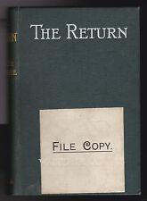 Walter De La Mare, The Return - 1st/1st 1910 Edward Arnold Publisher's File Copy