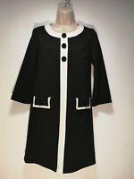 Debenhams Petite Collection Black Long Sleeve Shift Dress - Size 8 (532g)
