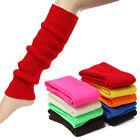 Fashion Women's Crochet Knit Solid Color Winter Wool Leg Warmers Socks US