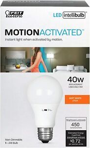 Feit Electric 40-Watt Eq Motion Activated Sensor A19 LED Bulb 2700K Soft White