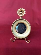 Vintage Small Wall Mirror Decorative Gold Wood Tole Florentine Made in Italy