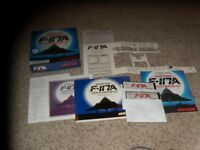"Nighthawk F-117A Stealth Fighter 2.0 IBM PC Game on 5.25"" disks box & manual"