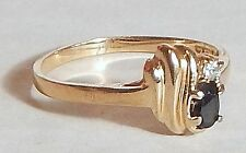GOLDTONE/PLATE RING FACETED GREEN STONE RHINESTONE SZ 10 SIGNED