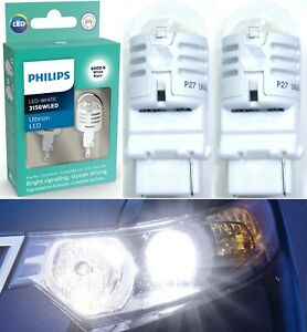 Philips Ultinon LED Light 3156 White 6000K Two Bulbs Front Turn Signal Upgrade