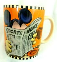 DISNEY MICKEY MOUSE SPORTS NEWS GO AHEAD I'M ALL EARS COFFEE MUG 24 OZ
