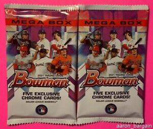 2 2021 Bowman Mega Box Chrome Mojo Pack Lot Auto/Refractor/Austin Martin/Jordan?