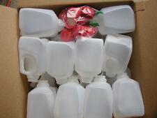 42-1QUARTER GALLON HDPE FOOD GRADE PLASTIC MILK JUGS W/TAMPER PROOF SCREW CAPS