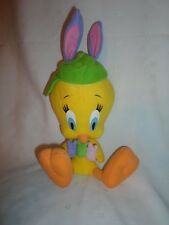 "Looney Tunes Easter Tweety Bird Rabbit Ears 13"" Plush Soft Toy Stuffed Animal"