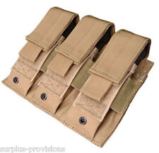 Condor MA52 Triple Pistol Mag Pouch - Tan Tactical magazine holster