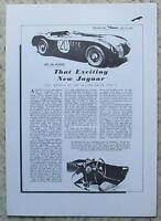 JAGUAR 3 ½ LITRE XK120 TYPE C Car Described Report 13 July 1951 AUTOCAR REPRINT