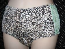 nwt Cacique by Lane Bryant Leopard Print Lace Cheeky Boyshorts Panties 12 XL