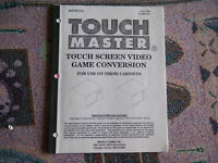 TOUCH MASTER CONVERSION WILLIAMS  game  owners manual