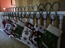 Horseshoe Christmas stocking holders