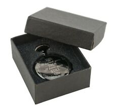 Black Pocket Watch with Chain & box Gift for Husband Spouse Partner