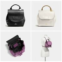 New Coach Derby Backpack Pebble Leather F59819
