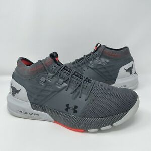 Under Armour Project Rock 2 Athletic Shoes HOVR Gray Mens Size 13 (3022024-102)