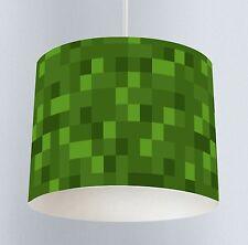 Green Pixel (023) Boys Bedroom Drum Lampshade Light Shade