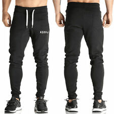 Mens Slim Fit Sports Gym Pants Jogging Running Trousers Tracksuit Sweatpants Hot