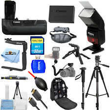 Canon EOS T6i / T6s Original Battery and Grip ALL YOU NEED Accessory Bundle NEW!