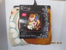 "Beauty And The Beast Disney Super Soft Plush Throw Blanket 48"" X 60"" NEW!"