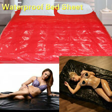 Black Red PVC Waterproof Bed Sheet Couples Adult Game Wet Sexy Bedding/Pillow