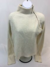 cd2e51b93b6 Benetton Women s Ivory Made In Italy Wool Blend 1 4 Zip Pullover Sweater ...
