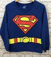 Superman sweatshirt juniors medium supergirl pullover costume shirt new women