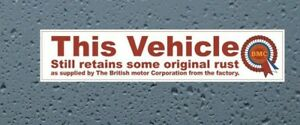 BMC Funny internal window sticker classic car Triumph,Mini,Morris 200mm