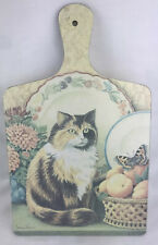 Wilscombe Melamine Calico Cat Cutting Board by Jenny Barron 13�L