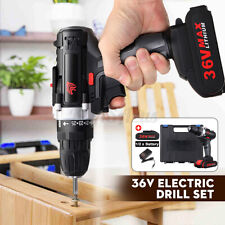 36V 25 Speed Torque Electric Cordless Drill 28 N.m with 2 Battery + Charger Set