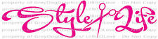 STYLE LIFE FUNKY FONT & SCISSORS VINYL DECAL HAIR STYLIST STICKER, COSMETOLOGY