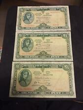 3 x  £1 IRISH NOTES FROM  LADY LAVERY 1972 /75/76  AS SCAN