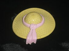 Fisher Price Loving Family Dollhouse Tan & Pink Beach Hat for Mom or Grandma