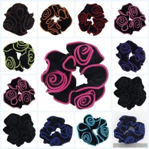 Lady Velvet Hair Scrunchies Elastic Scrunchy Bobble Ponytail Holder Hair Ring UK