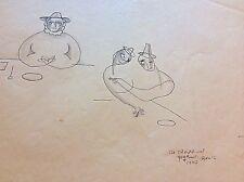 "SIGNED   BEATRICE WOOD   Original Drawing   ""She Should Eat Yoghurt. Beato 1990"""