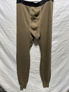 JE Morgan Arctex Men's XL Thermal Pants Drawers Fleeced Long Hunting Acrylic Ble
