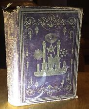 Early Original 1854 Masonic Offering Freemasonry Leather RARE Illustrated