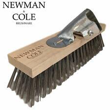 Wire Broom Head Metal Bristle Brush Outdoor Patio Cleaner Moss Algae Remover