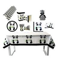 Birthday Party Panda Theme Supplies Favor Tableware Plate Cup Kids Decor LC